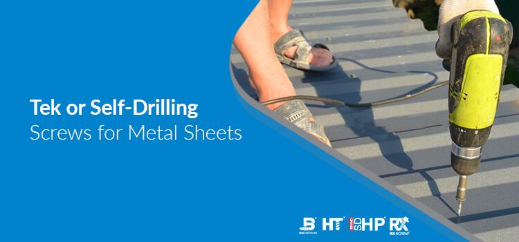 tek or self-drilling screws